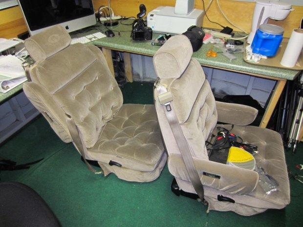 rusty the van - road trip - seats