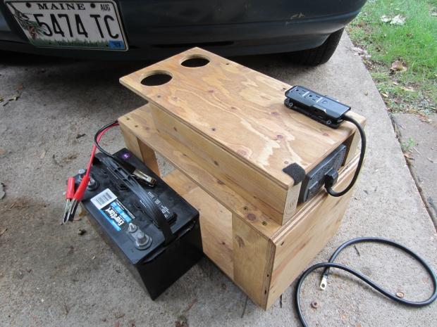 rusty the van - road trip - inverter second battery