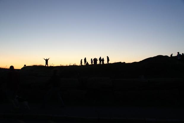 acadia sunrise - rusty the van - road trip