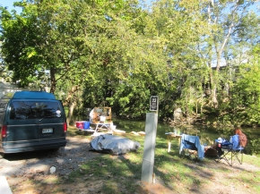 rusty the van - road trip - edinburg virginia - creekside campground