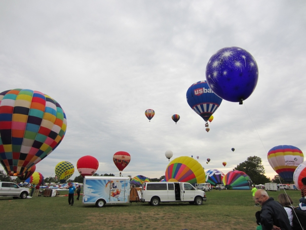 great forest park balloon race - road trip - rusty the van