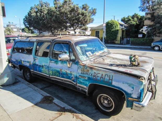 los angeles - rusty the van